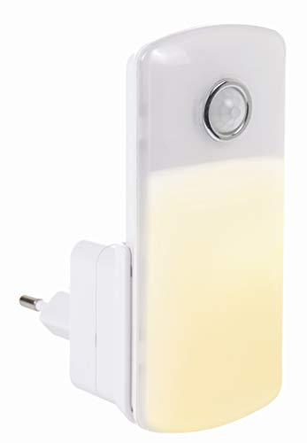 Northpoint LED Steckdosen Nachtlicht Orientierungsleuchte Taschenlampe Weiß Wandleuchte Multifunktion Bewegungsmelder Induktionsladung Akku Notlicht Notlampe Stromausfall (Eckig/Warmweiß)