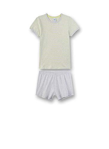 Sanetta Mädchen Pyjama kurz Zweiteiliger Schlafanzug, Gelb (gelb 2481), (Herstellergröße:128)