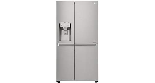 Refrigerador LG Side By Side New Lancaster 601L Door In Door Aço Escovado 110V GS65SDN
