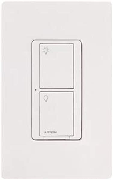 Lutron Caseta Wireless Smart Lighting Switch For All Bulb Types And Fans PD 5ANS WH R White