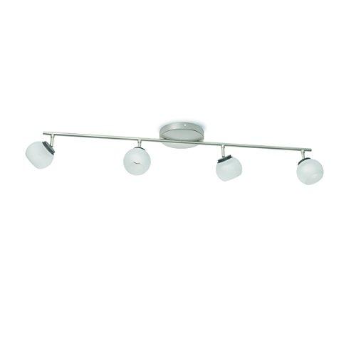 Preisvergleich Produktbild Philips myLiving LED Spot Balla 4-flammig Metall 4 W Edelstahl gebürstet / Weiß 533241716