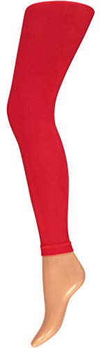 krautwear Damen Mädchen Leggins Leggings60 den Karneval Fasching Kostüm schwarz rot rosa blau (rot XXL)