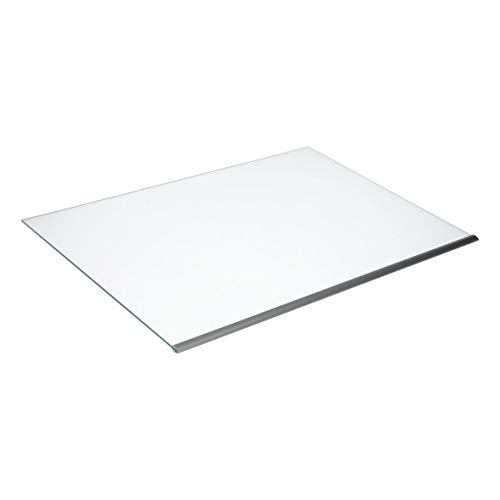 Whirlpool Bauknecht 480132101131 ORIGINAL Glasplatte Glasboden Abstellplatte Schutzglasscheibe Zierleiste Leiste 490x341mm Kühlschrank Kühlgerät auch Ignis Ikea