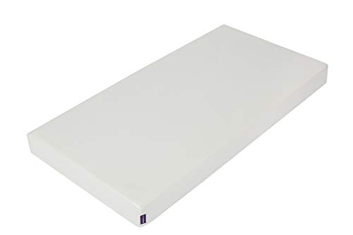 ClevaMama Waterproof Baby Mattress for Cot and Crib, with Reflex Support Foam, Anti-Allergy and Breathable - 60x120x10 cm