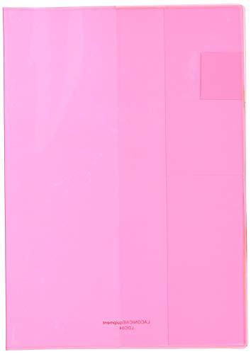 ラコニック 手帳カバー A5 マンスリー用 ビニール ピンク LDC04-45PK