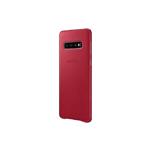 Capa Protetora De Couro Vermelho Samsung Galaxy S10 Original