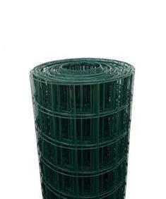 ROTOLO 25 m RETE METALLICA ZINCATA PLASTIFICATA ELETTROSALDATA PER RECINZIONE (175 cm)