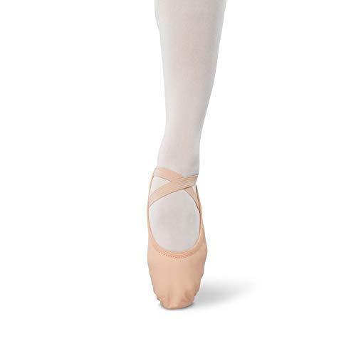 Danshuz Adult Pink Leather Upper Stretch Split Sole Ballet Shoes 9.5 Womens