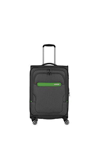 Travelite travelite: Madeira – sehr leichte Trolleys, Trolley-Taschen, Reise- und Bordtaschen plus Weekender Koffer, 67 cm, 60 Liter, Anthrazit/Grün