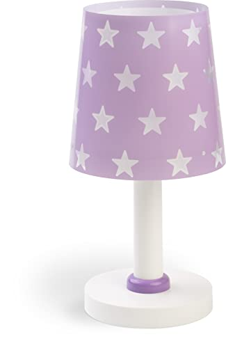 Dalber Lámpara Infantil de Mesita Estrellas Stars, 40 W, Malva Lila