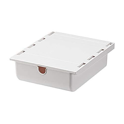 Cajón autoadhesivo debajo de la mesa, bandeja de lápices oculta, caja de almacenamiento para debajo del escritorio, ideal para oficina, escuela/cocina (A3)