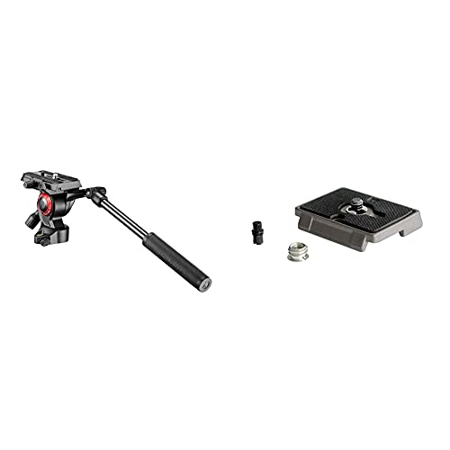 Manfrotto Befree Live Fluid Head & 200PL, Quick Release Plate with 1/4 Inch Screw, Compatible with DSLR, Compact System Camera, Mirrorless