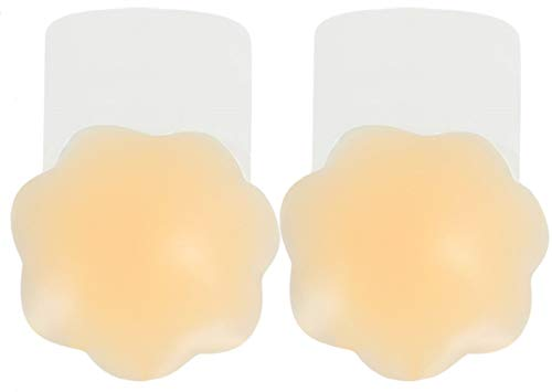 UMIPUBO Pezoneras de Silicona para Pezones Cubierta de Pezón Push Up Breast Lift Sujetadores Adhesivos Invisibles Reutilizable Pezón Levantamiento Cubierta (B, Una talla)