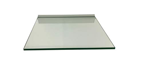 Regale4You Glasregal Quadrat 30x30 cm klar Glas mit Alu Profil Wandregal Board