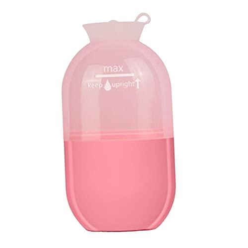 harayaa 1 pieza, pequeña taza de masaje con hielo refrigerante reutilizable, fitness, herramienta de rodillo de masaje frío, terapias frías, congelable, para - Rosado