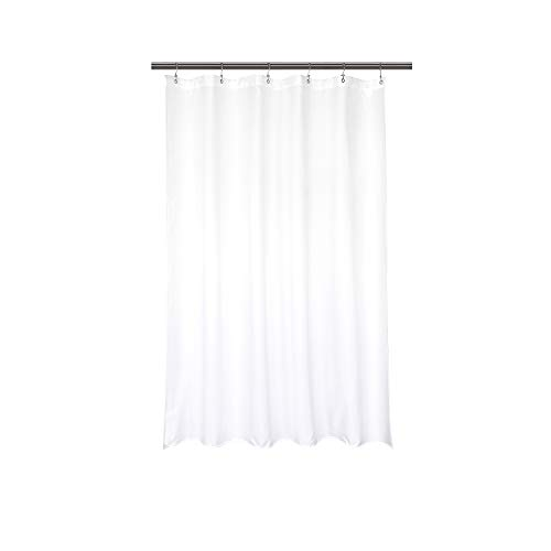 Barossa Design Waterproof Fabric Stall Shower Curtain Liner 32' W x 72' H - Hotel Quality, Machine Washable, White Shower Liner for Bath Tub, 32x72