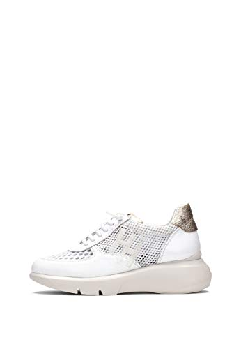 Hispanitas Cuzco Sneaker Damen Weiss/Gold/Rose - 35 - Sneaker Low Shoes