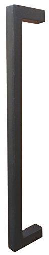 Gedotec Gusseisen Stoßgriff Haustür Türbeschlag Stangengriff Antik schwarz Schmiedeeisen - 1881 | Länge 500 mm | Profil 30 x 30 mm | 1 Stück - Türgriff Vintage inkl. Befestigungsmaterial für Holz