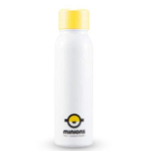 ASKLKD 450 ml de la Taza de Agua del Aislamiento Inteligente de los niños de 450 ml con el Sellado de la Temperatura de Bloqueo de Larga duración y la Prueba de Fugas de Color Amarillo f
