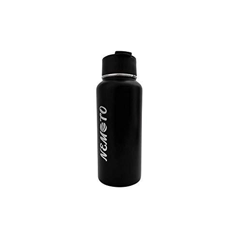 NEMOTO Trinkflasche - BPA Frei - 1liter Wasserflasche - Doppelwendiger Edelstahlwasserflasche für Outdoor, Wandern, Gym und Schule