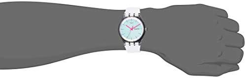 Swatch Transformation Quartz Silicone Strap, White, 20 Casual Watch (Model: SUOK713) WeeklyReviewer