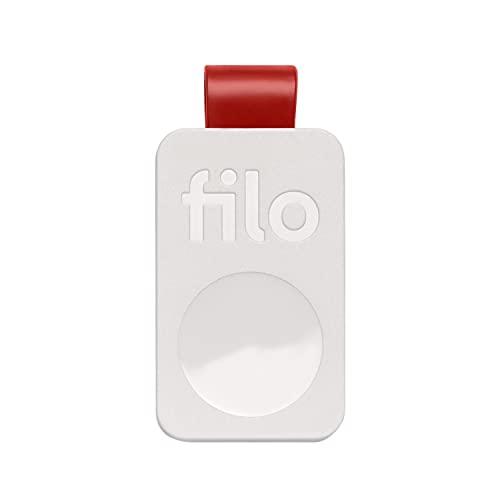 FiloTag 2021, Buscador de Llaves | Localizador de Objetos Perdidos | Tracker Bluetooth | Alarmas sonoros | Tamaños: 25 x 41 x 5 mm | Made in Italy | Pack de 1: Blanco