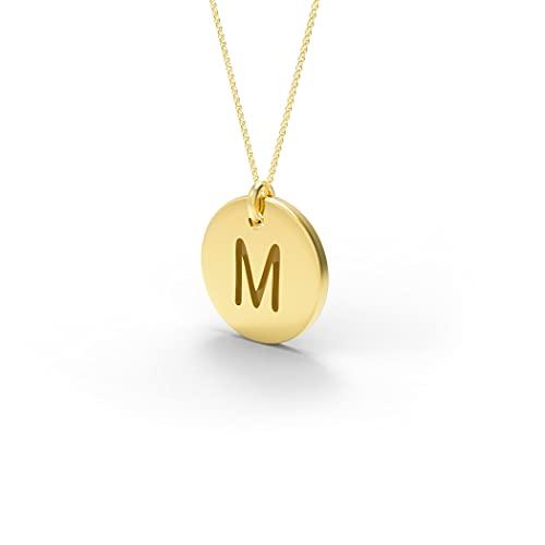 JIUXIAO Collar Za 18 Oro K Moda 26 Letras Collar con Colgante de declaración Redonda Joyería de Mujer Envío de Venta