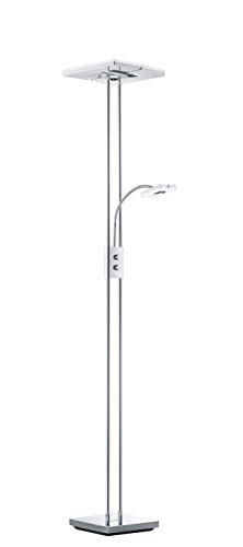 Reality Leuchten R42782106 Avignon A++, Stehleuchte, Metall, 1500K,1500 Lm., 4.5 W, Integriert, weiß, 36.0 x 28.5 x 180.0 cm