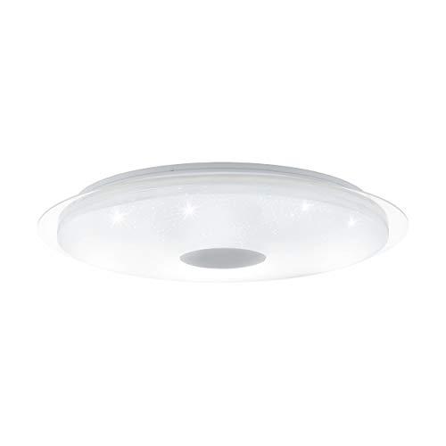 EGLO LANCIANO - Lámpara de techo, acero, 40 W, color blanco, transparente
