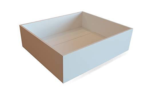 MUEBLECASA - Cajón con ruedas para almacenamiento bajo cama, madera, Largo 85cm x Fondo 75cm x Alto 27cm, Blanco