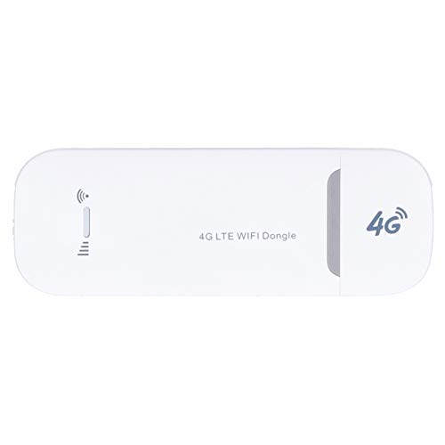 Dongle 4G WiFi, enrutador portátil Módem de Punto de Acceso inalámbrico Interfaz de Tarjeta SIM Fuente de alimentación USB, hasta 150 Mbps, Plug and Play, para Windows XP / 7/8/10 / para iOS/OS X /