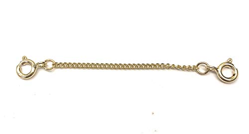 ANTOMUS HEAVY DUTY 9CT YELLOW GOLD(375) CURB 2.5 INCH SAFETY CHAIN
