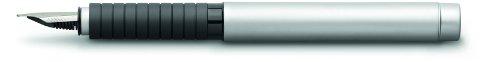 Faber-Castell 148520 - Füllfederhalter Basic Metall matt, Feder M, silber