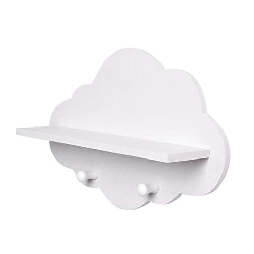 Los estantes de la nube en forma de nube de madera flotante Plataforma flotante blanca estantes de montaje en pared Escudo Junta exhibe la suspensión de almacenamiento en rack accesorios infantiles