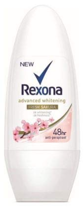 REXONA Women Roll On Sakura Fresh 50ml -Whitening antiperspirant Protection with Motionsense– The More You Move, The More it Protects.