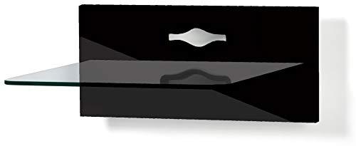 VCM Paneel Hifi Halterung Receiver DVD-Player MöbelKonsole Wandregal Klarglas
