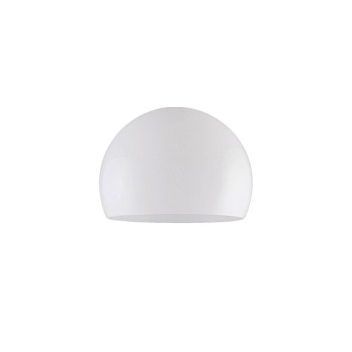 QAZQA Modern/Retro Kunststoff Lampenschirm in Kugelform 30/22 opalweiß - Globe, Kugelförmig Schirm Pendelleuchte