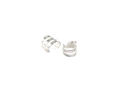 1 anillo de oreja falsa para cartílago Helix Rock, sin perforación, color plateado.