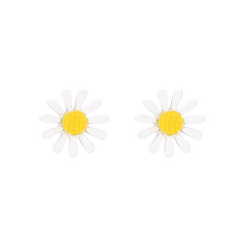 ZHOUBAA Pendientes de moda para mujer, 1 par de pendientes de aleación con forma de flor, para mujer, accesorios de decoración, Zinc,