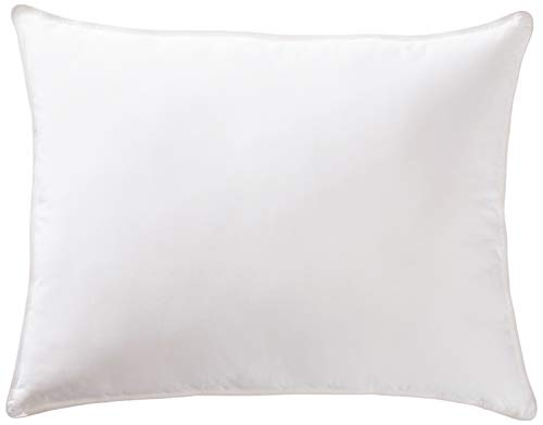 AmazonBasics Deluxe Down-Alternative Pillow with Cotton Shell - Firm Density, Standard