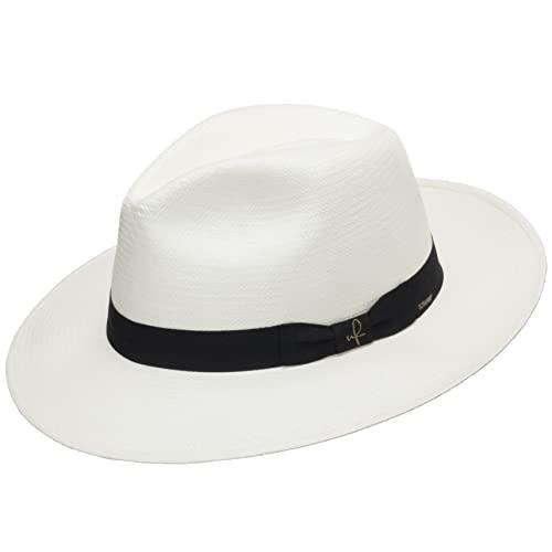 Big Sale AUTHENTIC CLASSIC FEDORA PANAMA HAT WHITE STRAW 6 7/8