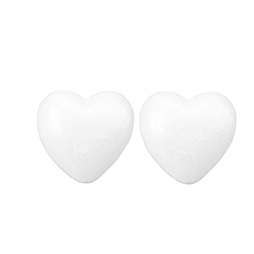 ABOOFAN 4pcs Craft Foam Heart Half Styrofoam Polystyrene Ball Modelling Mould White DIY Foam Mold for Flower Arranging Christmas Tree Hanging Decorations 16.5cm