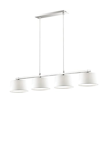 Ideal Lux Hilton SB4 Ampoule, blanc, halogène, électrique, ampoules incluses ; réglage de la hauteur : oui