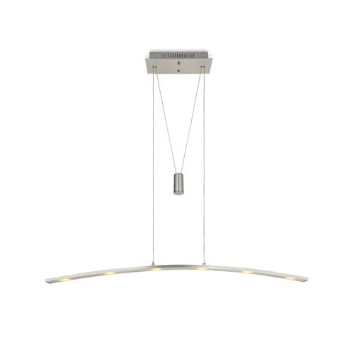 MINGZE Adjustable Contemporary Pendant Light Fixture, Modern LED Ceiling Light, Stylish Hanging Light, Aluminum Chandelier 3000K Warm Light for Kitchen Island, Living Room Dining Restaurant (SB009C)