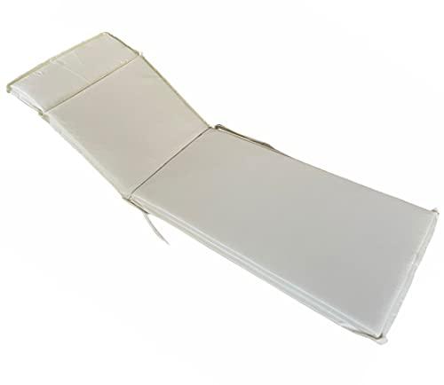 Cuscino per Lettino da Giardino Materassino Sdraio Antimacchia idrorepellente sfoderabile (200x65 cm)