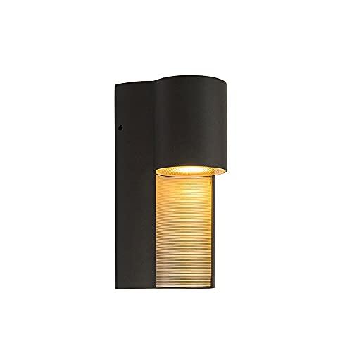 Xungzl Mini linterna de pared al aire libre impermeable para la cabeza, IP65 LED iluminando la luz de montaje en la pared al aire libre, simple, a prueba de agua y a prueba de óxido de la pared de la