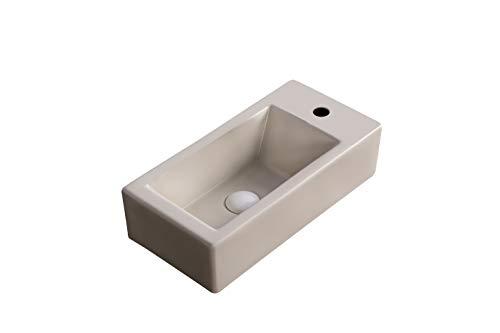 Art-of-Baan® Aufsatzwaschbecken Waschbecken Hochglanz Wandmontage kleines Bad BEIGE, 505 * 245 * 130 mm mit Lotus Effekt (K-177)