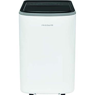 Frigidaire FHPC082AB1 Portable 8000 BTU Air Conditioner with Remote Control for Rooms, White