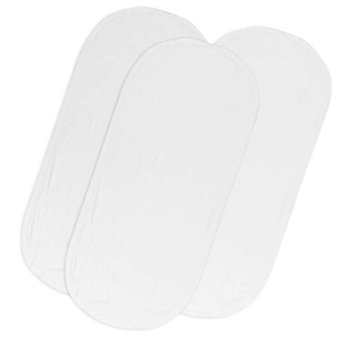 HonestBaby Organic Cotton Changing Pad Liners (Set of 3), Bright White, One Size