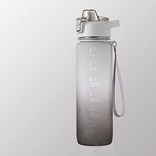 QIXIAO Botella de Agua de gradiente Rosa de 1100 ml con Marcador...
